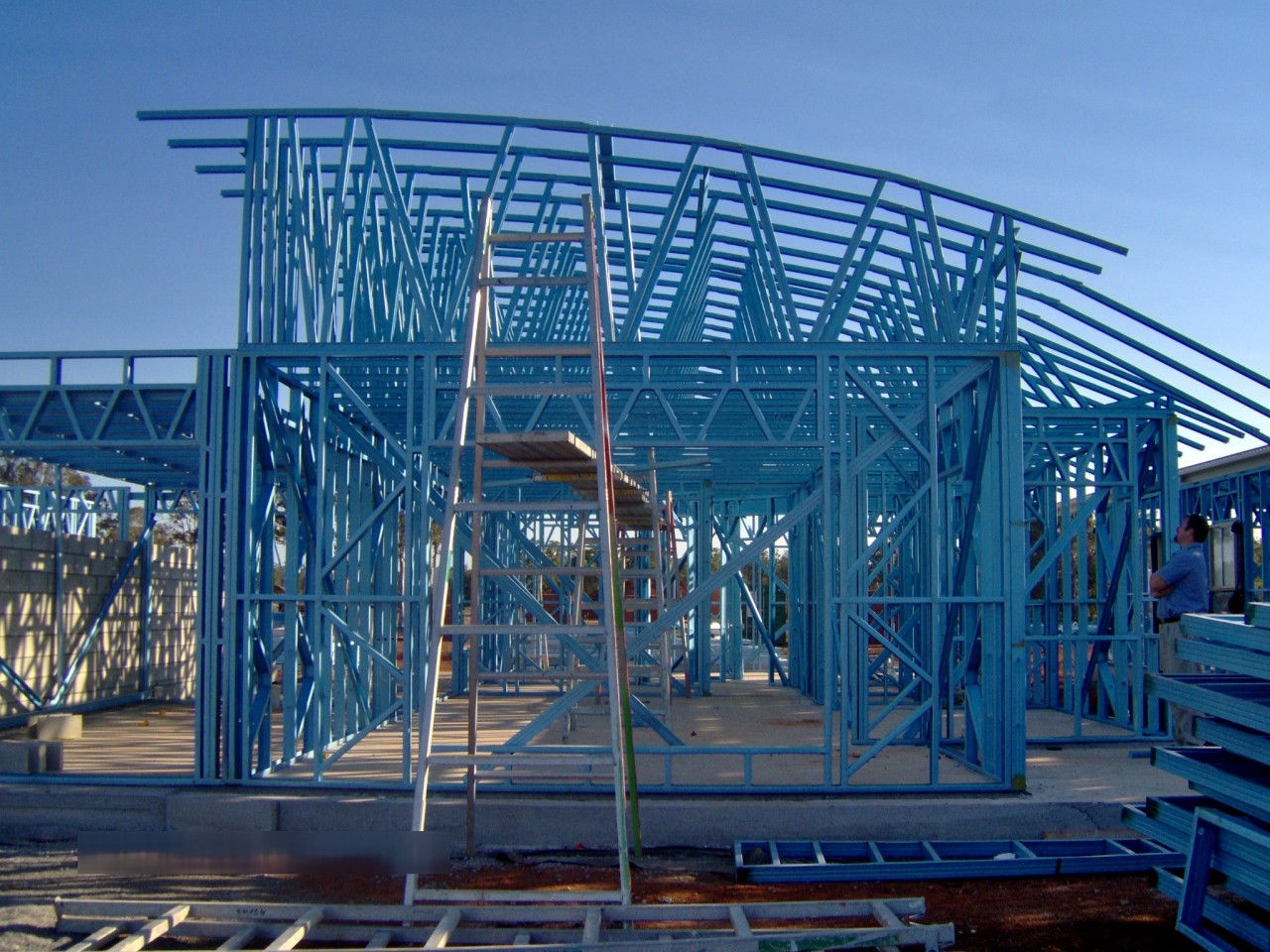 interesting and creative shapes and angles are possible with light steel frame building